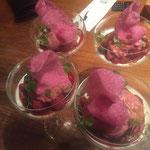 Panna cotta rood fruit