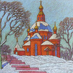 Церковь в Дубовом 40-50 к.п.