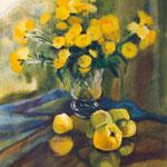 Осенние цветы. 1994. б.акв. 60х49
