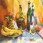 Натюрморт с ананасом. 1996. б.см.т. 51х50