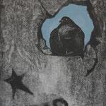 триптих РОДИНА. л.ч., 2012г.,  гравюра на картоне