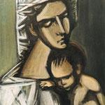А. Федоренко. МАДОННА. 1998. Х., м. 48х43