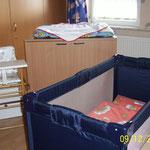 alles fürs Baby! Kinderbett, Wickelkomode und Hochstuhl