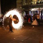 Feuershow private Hochzeit in Recklinghausen