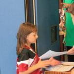 Auch die Jüngsten freuten sich über eine Medaille und eine Urkunde