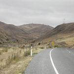 trockene Landschaft auf dem Weg nach Seddon