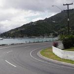 Aufbruch in Picton am Meer entlang