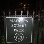 Eingang zum Madison Square Park
