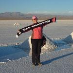 Stefi Dittrich in der Salzwüste in Bolivien 3.Platz