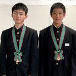 H29市体育協会表彰(平賀綾人君&森島琉君)