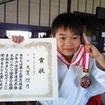 全少県予選三位入賞(小学2年)