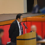 H29武道FES実行委員長として挨拶する圷先生