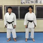 初段合格(知輝&琉菜)H30下期審査会