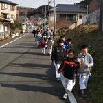 立野神社までランニング