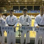 中学生大会(平賀、森、小森、髙林選手)