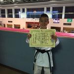 森島琉選手2016年9月取手カップ 組手 準優勝