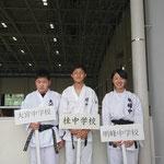 全中県予選(萩谷、森、佐藤選手)