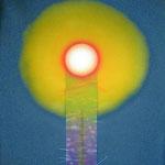 013 Geburt eines Sterns | Acryl auf Leinwand 80 x 110 cm | Besitz Gemeinde Neumarkt/Stmk