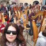 Harfen-Flashmob in Burghausen