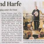 Artikel im Kölner Stadtanzeiger zu einem Konzert mit Spillyck