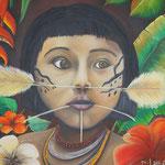 Artist Fernando Gil M. Yanomami Child.Amazonas