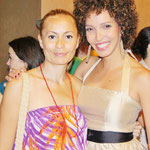 Mirtha Yepez OrinoquiArt Founder and Arlette Torres Actris at Ashes eternal  premier Montreal film world festival