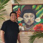 Fernano Gil Marquez. Artist Painting. Ciudad Bolivar. Venezuela