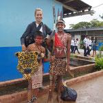 OrinoquiArt Founder  Mirtha yepez visit  the schools of the Municipio Gran sabana. Venezuela