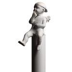 A. CAÑERO. Angelito travieso. 1999. Ed. 75. Bronze. 187 x 30 x 30 cm.
