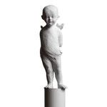 A. CAÑERO. Angelito meditando. 1994. Ed. 75. Bronze. 187 x 30 x 30 cm.