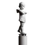 A. CAÑERO. Angelito con patín. 1998. Ed. 75. Bronze. 187 x 30 x 30 cm.