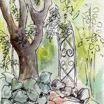 2014.5.28 弥生会スケッチ花の文化園 はがきサイズ