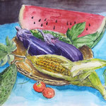 弥生会8月教材「夏野菜」 VIFART6号