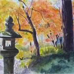 20141030第60回文化祭絵画展観心寺の紅葉 F8ラングトン