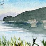 20151024奥琵琶湖 写真から オールドマスターハガキサイズ