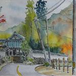 観心寺への道 whatman6号