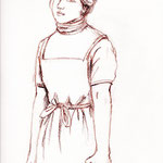 20041002山中さん cotman中目4号 コンテ鉛筆