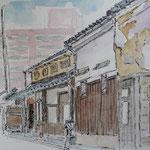20141023木曜スケッチ 酒蔵通り