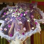 Brautschirm mit Orchiedeen
