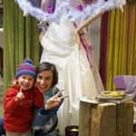 Sabine mit Lara vor unserer Braut