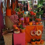 Deko in pink-orange