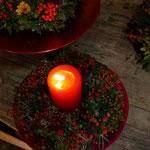 Beerenkranz mit Kerze