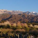 Blick auf den Nevado Cachi 6380müM bei Sonnenaufgang