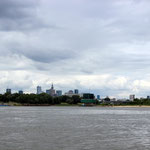 Am Beginn der Reise - die Skyline von Warschau