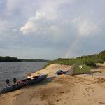 Manchmal sieht man einen Regenbogen