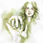 Take my hand Sassenach - Claire et Jamie Fraser - Outlander Fanart - Aquarelle #Inktober #Inktober2016