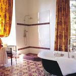 SOUTHERN TILES_Zementfliesen CAROCIM, Dekor: Quadra M412, 20x20 / 1,6 cm