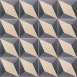 Zementfliesen von CARODECO / Dekor: Cube 7390-1, 20x20 / 1,6 cm