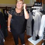 Sogar aus Italien waren die Bloggerinnen angereist: Barbara Christmann aus Mailand...
