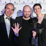 Henkel CEE-Chef - Günter Thumser, Hairdresser of the Year - Alexander Lepschi, Geschäftsführerin SK Professional Ö - Sonja Knautz ...
